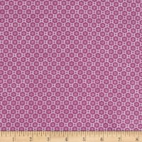 Stoffabric Denmark Quilters Basic Memory Tight Flowers Purple