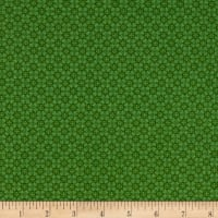 Stoffabric Denmark Quilters Basic Memory Scattered Dots Green