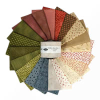 """Stoffabric Denmark Quilters Basic Dusty A 2.5"""" Strips 20 Pcs Multi"""