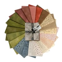 Stoffabric Denmark Quilters Basic Dusty A  Assorted Fat Quarters 20 Pcs