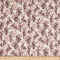 Stoffabric Denmark Autumn Leaves Flowers Cream