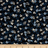 Stoffabric Denmark Autumn Leaves Leaves Black