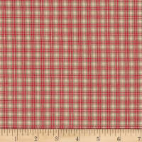 Stoffabric Denmark Nordso Check Red
