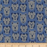 Stoffabric Denmark Avalana Jacquard Stretch Knit Cat & Dog Heads Blue