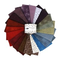 "Stoffabrics of Denmark  Quilters Basic Dusty B Assorted Color 2.5"" Strips 20pcs"
