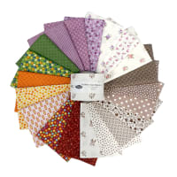 """Stoffabric Denmark Quilters Basic Memory A 2.5"""" Strips 20 Pcs Multi"""