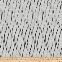 Stoffabric Denmark Vilma Dotted Wavy Lines Grey