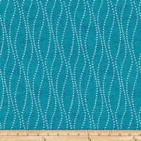 Stoffabric Denmark Vilma Dotted Wavy Lines Turquoise