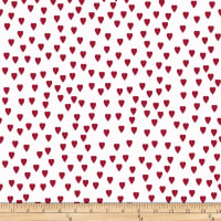 Stoffabric Denmark Nordic Hygge Hearts Red/White