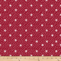 Stoffabric Denmark Nordic Hygge Snowflakes Red