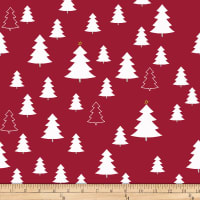Stoffabric Denmark Nordic Hygge Trees Red