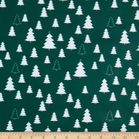 Stoffabric Denmark Nordic Hygge Trees Green