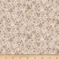 Stoffabric Denmark Sparkle Metallic Triangles Beige