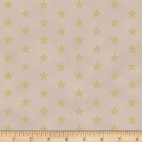 Stoffabric Denmark Sparkle Metallic Stars Tan