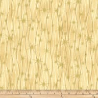 Stoffabric Denmark Christmas Wonders Lines with Gold Metallic Stars Beige