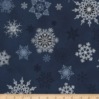 Stoffabric Denmark Christmas Wonders Snowflakes Metallic/Grey