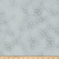 Stoffabric Denmark Christmas Wonders Small Stars Silver Metallic Grey
