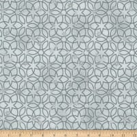 Stoffabric Denmark Christmas Wonders Metallic Stars Grey