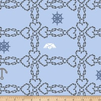 Stoffabric Denmark Season Living Hearts Light Blue