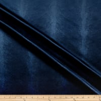 Embossed Velvet Feathers Navy