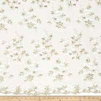 Starlight Embroidered Nebraska Sheer White/Gold