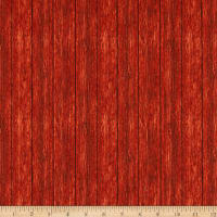 Northcott Country Pastime Wood Planks Red