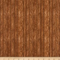 Northcott Country Pastime Wood Planks Brown