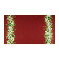 Northcott Deck the Halls Full Width Double Border Red
