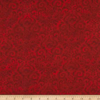 Northcott Deck the Halls Damask Red