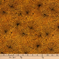 Northcott Raven's Claw Spider Web Orange