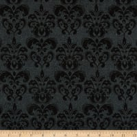 Northcott Raven's Claw Damask Black