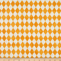 Northcott Raven's Claw Harlequin Cream/Orange