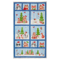 "Northcott Bearly Xmas Bearly 25"" Panel Dark Blue Multi"
