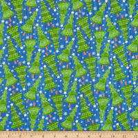 Northcott Bearly Xmas Tree Toss Dark Blue Multi