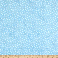 Northcott Bearly Xmas Small Snow Flake Light Blue