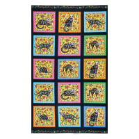 Northcott Nine Lives Nine Lives Blocks Black/Multi