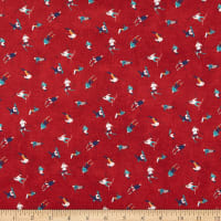 Northcott Hit the Slopes Tossed Skiers Red/Multi