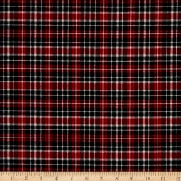 Northcott Cardinal Woods Flannel Plaid Red/Multi