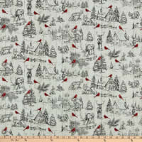 Northcott Cardinal Woods Toile Cream/Multi