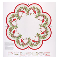 "Northcott Cardinal Woods 44"" Tree Skirt Panel Cream/Multi"