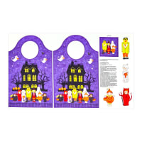 "Northcott Happy Halloween 24.5"" Bag Panel Purple/Multi"