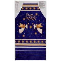 "Northcott Angels Above Metallic Apron 24"" Panel Royal"