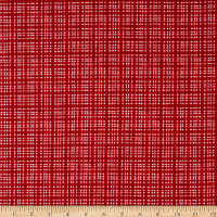 Northcott Double Decker Christmas Check Red
