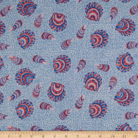 FIGO Salt Wind Seashells Blue/Multi