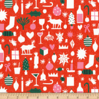 FIGO Wintertide Christmas Cutouts Red/Multi