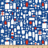 FIGO Wintertide Champagne Bottles Blue/Multi