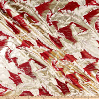 "112"" Wedding Table Top Suzie Jacquard Red"