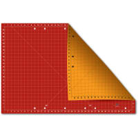 "Sullivans The Cutting Edge 24"" X 37"" Cutting Mat Red/Gold"