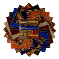 "Baxter Mill Spirit Of Africa 10"" Squares Multi 42 Pcs"