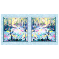 "P&B Textiles Naturesong 21"" Panel Blue"